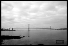 "Go ""Forth"" 2 (Nicky Highlander Photography) Tags: road bridge blackandwhite bw water scotland unitedkingdom forth queensferry"