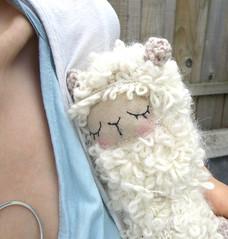 May3 (GretelCreations) Tags: sleeping alpaca animal toy stuffed beige furry doll soft teddy crochet llama cream plush sleepy kawaii lama knitted amigurumi