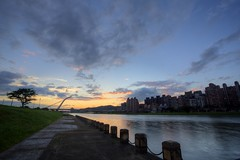 ~~ (PS~~) Tags: bridge pink sunset color building night clouds landscape photography view time taiwan  taipei rays temperature      lapse  twlight