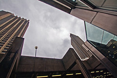 The Barbican (Saturated Imagery) Tags: city london architecture digital buildings saturation dslr enhanced brutalist towerblocks thebarbican canoneos1000d photoshopelements9
