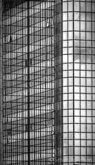Post-Modern Reflections (Light-Horizon) Tags: city blackandwhite bw abstract tower window glass monochrome lines vertical horizontal swansea architecture modern skyscraper reflections nikon tripod diagonal telephoto manmade hdr highdynamicrange lightandshade d90