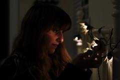 ~ (Stephanie P. Photography) Tags: lighting light summer portrait selfportrait flower me girl self lights bedroom nikon head room board headboard stephanie summervacation flowerlights d90 nikond90 heabdoard