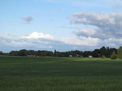 Dallas, Oregon (Dougtone) Tags: church field oregon train dallas farm rail willamettevalley 060512