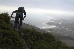 Here we Go Pacifica (oruwu) Tags: california mountain selfportrait trek coast underwear cloudy bikes overcast trail portfolio scratch mountainbiking bushes mcnee montara pacifica hwy1 prana davidhallock oruwu