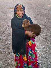 Egyptian Girl (Andrey Gavrish) Tags: portrait girl egypt hijab goat olympus evolt e500 qina