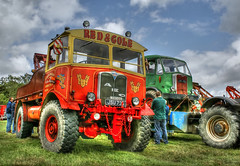 Fully recovered (crusader752) Tags: tractor wwii july vehicle hdr recovery towing 2012 matador aec tonemapping exraf wistonsteamrally redcole