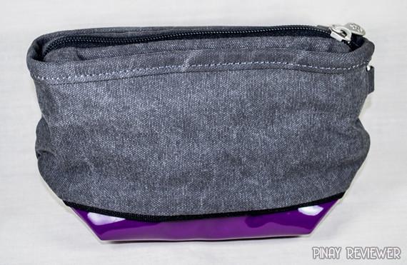 Gypsy Moth Pouch in Mid Grey Purple
