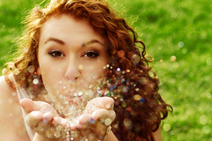 Glitter in the air (part III) (Anna Gorin) Tags: portrait people woman green girl grass closeup sparkles glitter canon person bokeh curls redhead 7d redhair tamron sparkly curlyhair youngwoman whimsical 2875mm tamron2875mmf28 430ex tamronspaf2875mmf28xrdildasphericalif
