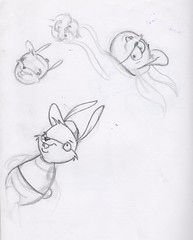 Bunny sketches (dillardma) Tags: rabbit bunny animal sketch drawing character cartoon graphite conceptdrawing