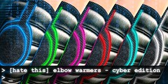 [hate this] elbow warmers - cyber (Corvus Szpiegel) Tags: wild leather fur this sock mesh skin goth elbow cyber rigged warmer brocade