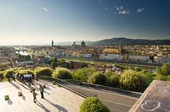 Le balcon de Florence (Mickael LOICHON) Tags: sunset landscape florence dome arno paysage balcon italie pontevecchio michelange