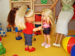 Happy to see each other! (Deejay Bafaroy) Tags: miniatures doll furniture barbie diorama dollhouse dioramas 16scale