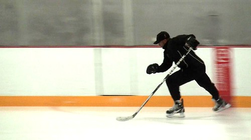 A medium shot of the forward stride with Brad Perry