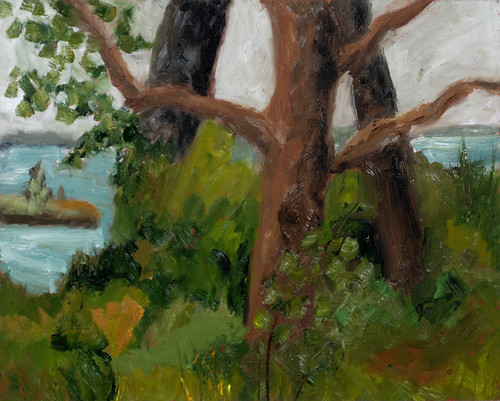 """View from the Studio - oil on board 12"""" x 16"""" $500"""