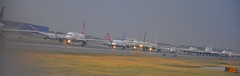 Line Up - JFK (sfPhotocraft) Tags: newyork airport traffic jfk busy planes hold 2012 lineup