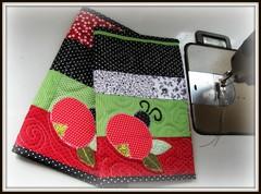 Capas de livro ... (Joana Joaninha) Tags: quilt amor capa livro patchwork ateliê aplicação joanajoaninha joanajaoninha