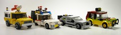 Movie Cars- the fleet grows! (Rick_3691) Tags: cars lego toystory pixar delorean ghostbusters backtothefuture jurassicpark ecto1 pizzaplanettruck automatedtourvehicle