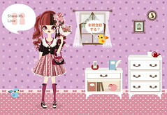 Share My Love (jrpinky_boi) Tags: black maroon poupee heartearrings minibouquet flowerhairaccessory flowerprintbag roundtoepumps lovelytwintailwig miniribbonhighsocks lacecollarcardigan flowerpleatsdress