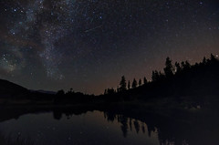 A glimpse of greatness (Damon D. Edwards Photography) Tags: longexposure summer water silhouette night stars landscape washington pond nikon northwest pacificnorthwest wa astronomy comet pnw meteor perseus constellation milkyway cosmicdebris perseidmeteorshower blyn meteoroids swifttuttle celestialevent tearsofstlawrence d7000 109p