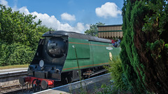 Harmans Cross Station 05 (Matt_Rayner) Tags: swanage railway 34070 manston sr battle of britain class steam train
