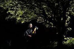 Black Riding Hood (Apionid) Tags: fairytale selfportrait wolf redridinghood parody tree night lightpainting werehere hereios nikond7000 366the2016edition 3662016 day210366 28jul16