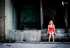 Orange is the New Black (JSTAR377) Tags: orange black portrait contrast model woman blonde dress industrial