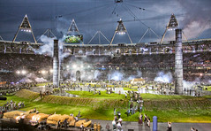 London2012 Pandemonium Developing (f0rbe5) Tags: pandemoniumdeveloping pandemonium greenandpleasantland bucolic rural green pleasant smoke transformation industrialrevolution noise smell steam industry industrial chimneys volunteers coordination dannyboyle piersshepperd technicaldirector director openingceremony olympicstadium stadium olympics xxxolympiad london2012 stratford eastend london uk 2012
