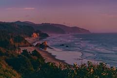 Silver Point Sunet (Auteurian) Tags: landscape sunset dusk oregon coast beach ocean silverpoint