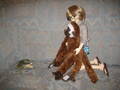 Confrontation 001 (EmpathicMonkey) Tags: bjd bluefairy olive toby happy monkey photo story ball jointed dolls toys