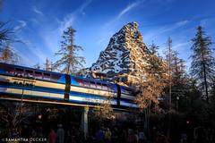 Monorail & Matterhorn (Samantha Decker) Tags: anaheim ca california canonef1635mmf28liiusm canoneos6d disneyland fantasyland matterhorn monorail samanthadecker socal socal16 themepark