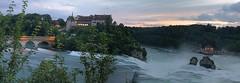 Rheinfall-Panorama (uwe20) Tags: rheinfall schweiz rhein schaffhausen wasser panorama langzeit abend wasserfall