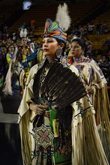 Grand Entry Buckskin (queenbeaphoto@att.net) Tags: bymelissafrybeasley dancer woman person people iicotpowwowofchampions ladiesbuckskin grandentry regalia beauty feathers fan beadwork crown plume earrings amazing braids ndn nativeamerican lifestylephotography eventphotography portraits tulsaoklahomaphotographers