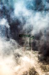 Broad Street (Slimdaz) Tags: smoke k30 readyplayerone slimdaz pentax outside warnerbros stevenspielberg movieset darrensmith pentaxda50135mm birmingham darrensmithimages darren 1855mm