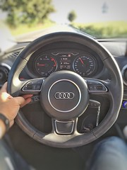 and another A3. Freiburg  Schneck Steeringwheel Audi AUDIA3 at Autokontor Bayern (rowiro) Tags: steeringwheel audi audia3