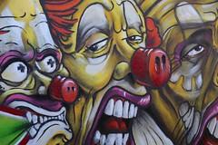 Wall art from Switzerland (elcoprouk) Tags: wall art graffiti street colours outdoors clowns canon