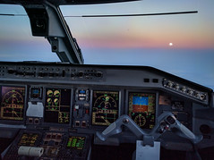 Chasing the moon (rmetal) Tags: gander flying aviation embraer canada