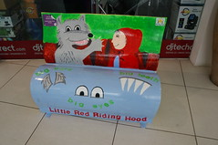 The Big Read - Liitle Red at Marlborough (tim ellis) Tags: bigread zellig custardfactory book bench liitleredatmarlborough littleredridinghood wolf marlboroughinfantschool birmingham uk