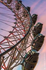 London Eye at Dusk (James Neeley) Tags: londoneye london sunset dusk geometry jamesneeley