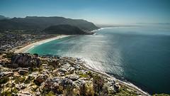 fish hoek (AndreDiener) Tags: beach mountain villagebythesea water waterscape ocean altantic falsebay rocks blue green