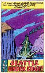 Next - Seattle under siege! (Tom Simpson) Tags: godzilla godzillakingofthemonsters comics comicbook vintage art kaiju 1977 1970s herbtrimpe jimmooney dougmoench marvelcomics