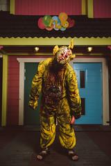 IikWeek - Laa Laa zombie (mrksaari) Tags: d750 2470mmf28g zombie parade amusement park iikweek linnanmki helsinki finland gore horror terror scary teletubbies laalaa blood profoto b2 jason