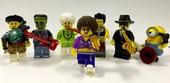 My Lego Rock Band (cokeclsc) Tags: lego band guitar bagpipes saxaphone banjo minion flute fun