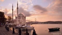 Ortaky Mosque (Evans Kanoz) Tags: longexposure cloudy outdoor landscape mosque istanbul sunrise panorama 10stop seashore historic