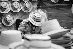 """Sombreros Pintaos"" (AzazzelPhotography) Tags: panama hat traditional tradition handmade handcrafted art artisan vernacular photography photoseries series blackwhite bw blackandwhite monochrome culture history photostory workshop hats panamenianhat natural folklore streetphotography man oldman old wisdom nikon nikonphotography d5200"