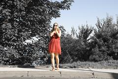 _MG_7886_ (FedeChen) Tags: red roadtrip littleredridinghood espaa giulia countryside sansebastian