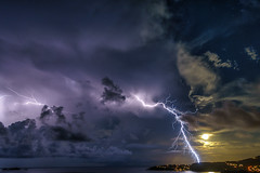 full moon lightning (muscapix) Tags: rx100 iii stbarthpicture stbarth stbarthelemy storm sbh nuit nocturne night nature lightning thunder weather rain pluie eclair orage tempette tempete tempte tempesta lectricit lment lectron cologie cosystme cloud nuage natura natural power climat mto meteo mer ocean ocano ocan sky ciel storme