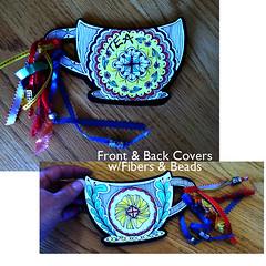 Tea with Friends Collab Project (Paint Chip) Tags: doodle teacups zentangle zendoodle lineweaving