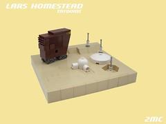 Lars Homestead (2 Much Caffeine) Tags: starwars lego micro jawas tatooine moc sandcrawler larshomestead microscale auntandunclefriedtoacrisp