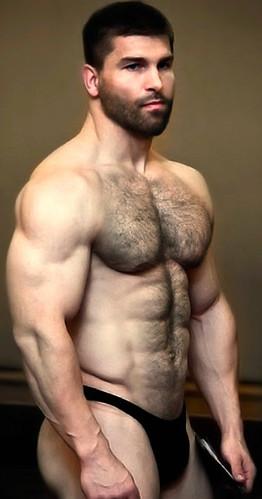 hairy muscle men Very