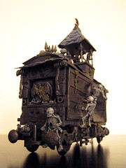 * ( knitmad ) Tags: scale train subway skull miniature model lego handmade warhammer custom sliceoflife